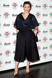 © Licensed to London News Pictures. 17/02/2016. VICKY MCCLURE arrives at the NME Awards 2016 with Austin, Texas.  Previous winners of NME's Godlike Genius Award include Suede, Blondie, The Clash, Paul Weller, The Cure, Manic Street Preachers, New Order & Joy Division, Dave Grohl, Noel Gallagher and Johnny Marr.  London, UK. Photo credit: Ray Tang/LNP