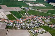 Nederland, Noord-Holland, Texel, 16-04-2012; Den Hoorn met kerkje (Nederlands Hervormd).Village of Den Hoorn on the isle of Texel..luchtfoto (toeslag), aerial photo (additional fee required);.copyright foto/photo Siebe Swart