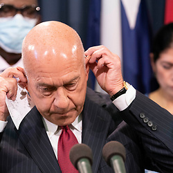 State Sen. John Whitmire, D-Houston, joins nine Texas Democratic senators who supported their House quorum-busting colleagues in Washington, D. C. as they return to the Texas Capitol and explained their opposition to voting bills in the special session on July 21, 2021.