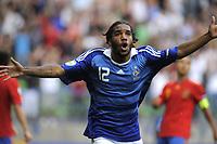 Fotball<br /> Frankrike<br /> Foto: Dppi/Digitalsport<br /> NORWAY ONLY<br /> <br /> FOOTBALL - UEFA EURO 2010 UNDER 19 - FINAL - FRANKRIKE v SPANIA  - 30/07/2010 <br /> <br /> JOY ALEXANDRE LACAZETTE (FRA) AFTER HIS GOAL
