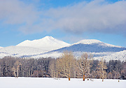 Quiet Winter Portrait of Winter Pasture and Cascade Mountains, Eastern Oregon