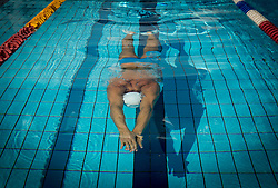Damir Dugonjic (SLO) of PK Fuzinar Ravne at practice session day after winning in 50m and 100m Breaststroke at Slovenian Swimming National Championship 2014, on August 2, 2014 in Ravne na Koroskem, Slovenia. Photo by Vid Ponikvar / Sportida.com
