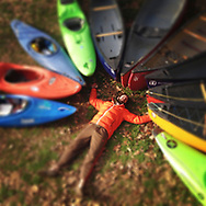 A portrait of Trey Moore, Eddyhopper Expeditions, showing his love of paddling. Created by Arkansas commercial photographer, Alex Kent
