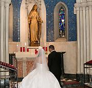 Catholic wedding ceremony, adoration of Mary by Tallmadge wedding photographer, Akron wedding photographer Mara Robinson Photography