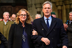 © Licensed to London News Pictures. 16/12/2016. London, UK. Claire Blackman, leaves The High Court after a bail hearing for her husband, Sgt Alexander Blackman, who is currently serving a life sentence after being convicted of murdering a wounded Taliban fighter in Afghanistan in 2011. Photo credit: Ben Cawthra/LNP