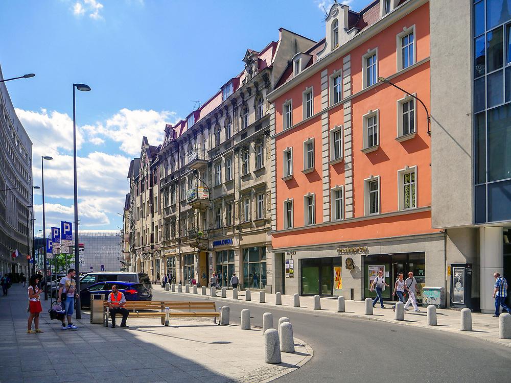 Ulica Młyńska w Katowicach, Polska<br /> Młyńska Street in Katowice, Poland