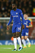 Tiemoue Bakayoko of Chelsea looks on. Premier League match, Liverpool v Chelsea at the Anfield stadium in Liverpool, Merseyside on Saturday 25th November 2017.<br /> pic by Chris Stading, Andrew Orchard sports photography.