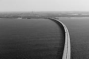 Öresund Bridge (Öresundsbron). May 2019.<br /> The Öresund Bridge is a combined railway and motorway bridge across the Öresund strait between Sweden and Denmark.<br /> Photo Ola Torkelsson <br /> Copyright Ola Torkelsson ©