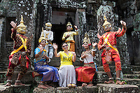 "Khmer classical dance is often called ""Apsara Dance"" coming from the notion that Khmer classical dance is connected to dances practiced in the courts of the Angkor monarchs, which got their inspiration from mythological court gods and from its celestial Apsara dancers."