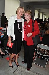 Left to right, PRISCILLA HIGHAM and DAME JANET SUZMAN at the ASAP (African Solutions to African Problems) Lunch held at the Louise T Blouin Foundation, 3 Olaf Street, London W11 on 15th May 2012.