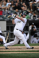 CHICAGO - SEPTEMBER 10:  Adam Dunn #32 of the Chicago White Sox bats against the Cleveland Indians on September 10, 2011 at U.S. Cellular Field in Chicago, Illinois.  The White Sox defeated the Indians 7-3.  (Photo by Ron Vesely)   Subject: Adam Dunn