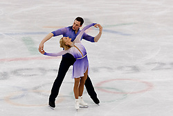 February 15, 2018 - Gangneung, South Korea - Germany's figure skaters ALJONA SAVCHENKO, 34, and BRUNO MASSOT, 29, broke their own world record to claim  the Pairs Figure Skating Free Skating Gold Medal at the PyeongChang 2018 Winter Olympic Games at Gangneung Ice Arena on Thursday morning.<br /> They had been fourth overnight after Massot completed a double instead of a triple salchow in the short program. But they beat their own world record in Thursday's free skate, scoring 159.31 points for a total of 235.90, barely beating China pairs silver winning 235.47 and Canada won the bronze. (Credit Image: © Paul Kitagaki Jr. via ZUMA Wire)