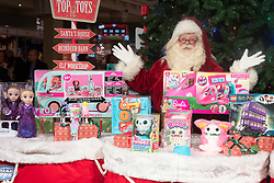 © Licensed to London News Pictures. 13/11/2019. London, UK. Father Christmas with a selection of the Bastian Top 12 Christmas DreamToys. Photo credit: Ray Tang/LNP