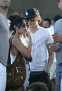 18th April 2009. Indio, California. Zac Efron & Vanessa Hudgens in the VIP area, at the Coachella Music Festival..PHOTO © JOHN CHAPPLE / REBEL IMAGES.tel +1 310 570 9100    john@chapple.biz