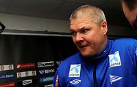 Fotball<br /> 9. Mai 2013<br /> Tippeligaen<br /> Brann stadion<br /> Brann - Start 2 - 0<br /> Mons Ivar Mjelde , start trener tilbake på gamle trakter. Det endte med tap.<br /> Foto Astrid M. Nordhaug