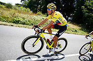 Greg Van Avermaet (BEL - BMC) Yellow jersey during the Tour de France 2018, Stage 4, Team Time Trial, La Baule - Sarzeau (195 km) on July 10th, 2018 - Photo Luca Bettini / BettiniPhoto / ProSportsImages / DPPI
