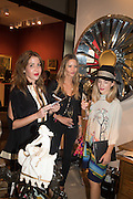 LUCIANA RIQUE; JESSICA SIMON; NOVI CLAVET, The LAPADA Art & Antiques Fair - private view, Berkeley Sq. London. 12  September 2016