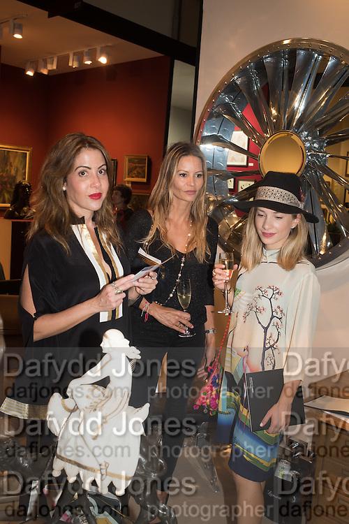 LUCIANA RIQUE; JESSICA SIMON; NOVI CLAVET, The LAPADA Art & Antiques Fair - private view, Berkeley Sq. London. 12  September 2016
