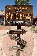 Sign for the bar 10 ranch, Hotel in the  Grand Canyon  Arizona, USA