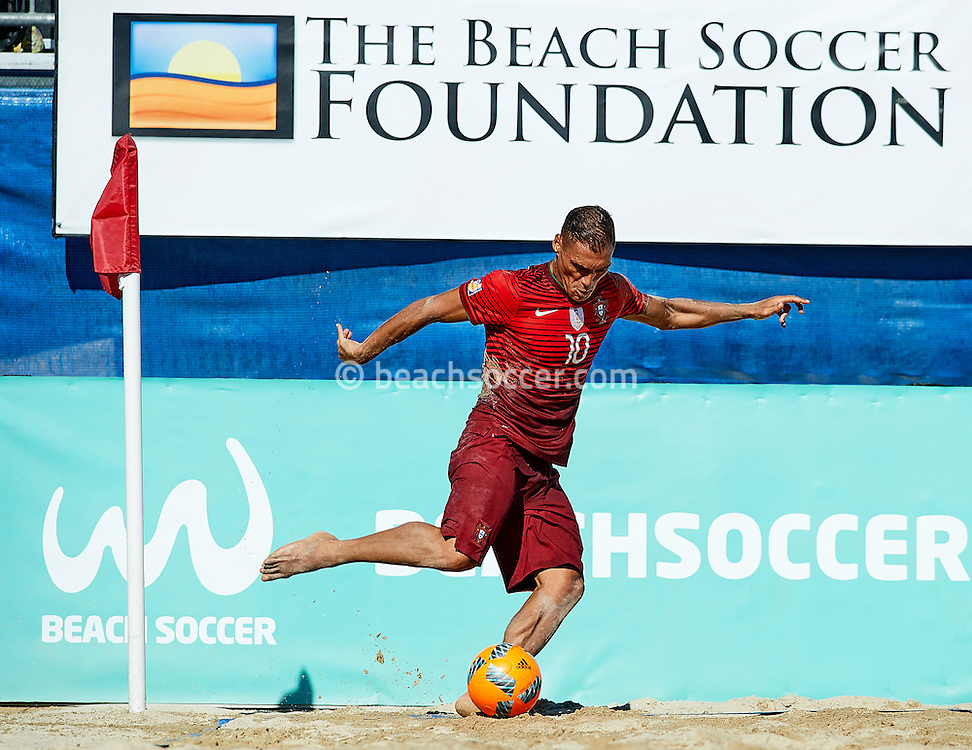 Belchior of Portugal takes a corner kick during the Euro Winners Cup 2016 in Sanxenxo. (Photo by Manuel Queimadelos)