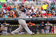 Prince Fielder #28 of the Detroit Tigers bats against the Minnesota Twins on June 15, 2013 at Target Field in Minneapolis, Minnesota.  The Twins defeated the Tigers 6 to 3.  Photo: Ben Krause