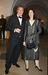 MR GIUSEPPE CIARDI and LADY HENRIETTA SPENCER-CHURCHILL at a private dinner to unveil the Van Cleef & Arpels jewellery collection 'Couture' with fashion by Anouska Hempel Couture held at The Banqueting House, Whitehall Palace, London on 8th March 2005.<br /><br />NON EXCLUSIVE - WORLD RIGHTS