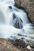 Firehole Falls in Yellowstone National Park
