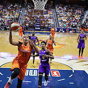 UNCASVILLE, CONNECTICUT- JULY 15: Alyssa Thomas #25 of the Connecticut Sun drives to the basket during the Los Angeles Sparks Vs Connecticut Sun, WNBA regular season game at Mohegan Sun Arena on July 15, 2016 in Uncasville, Connecticut. (Photo by Tim Clayton/Corbis via Getty Images)