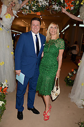 ROD BARKER and TANIA BRYER  at the Masterpiece Midsummer Party in aid of Marie Curie Cancer Care held at The Royal Hospital Chelsea, London on 2nd July 2013.