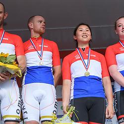 18-06-2017: Wielrennen: NK Paracycling: Montferland<br /> s-Heerenberg (NED) wielrennen Nederlands Kampioen tandem mannen en vrouwen emt Vincent ter Schure, Timo Fransen, Shie Au Yeung en Michelle Stummel
