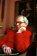 Historian Dr David Starkey at his London home.