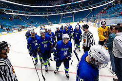 Players of Slovenia after ice hockey match between Slovenia and Lithuania at IIHF World Championship DIV. I Group A Kazakhstan 2019, on May 5, 2019 in Barys Arena, Nur-Sultan, Kazakhstan. Photo by Matic Klansek Velej / Sportida