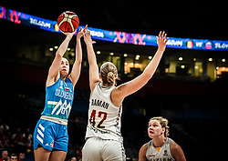 Annamaria Prezelj of Slovenia during basketball match between Women National teams of Belgium and Slovenia in the Qualification for the Quarter-Finals of Women's Eurobasket 2019, on July 2, 2019 in Belgrade Arena, Belgrade, Serbia. Photo by Vid Ponikvar / Sportida