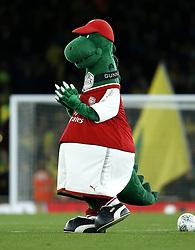 Arsenal mascot Gunnersaurus