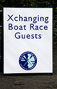 Putney, London,   Boat Race signage, 156th University Boat Race, River Thames, between Putney and Chiswick, on the Championship Course.  Saturday  03/04/2010 [Mandatory Credit Karon Phillips/Intersport Images]