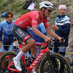 LUZ ARDIDEN (FRA) CYCLING: July 15<br /> 18th stage Tour de France Pau-Luz Ardiden<br /> Images from the Col du Tourmalet<br /> Silvan Dillier