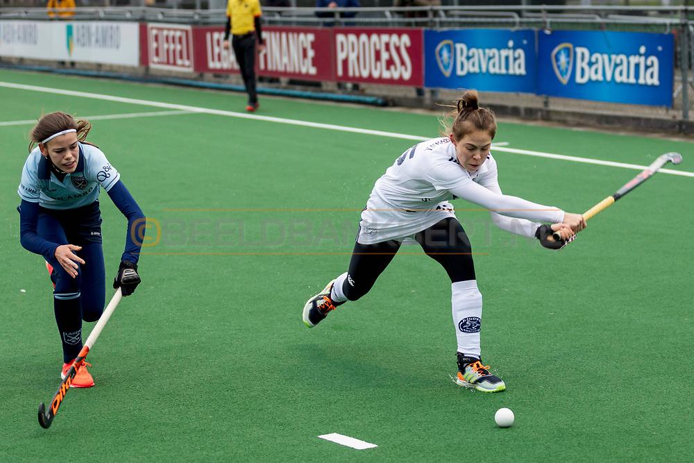 LAREN -  Hockey Hoofdklasse Dames: Laren v Pinoké, seizoen 2020-2021. Foto: Josephine Murray (Pinoké)