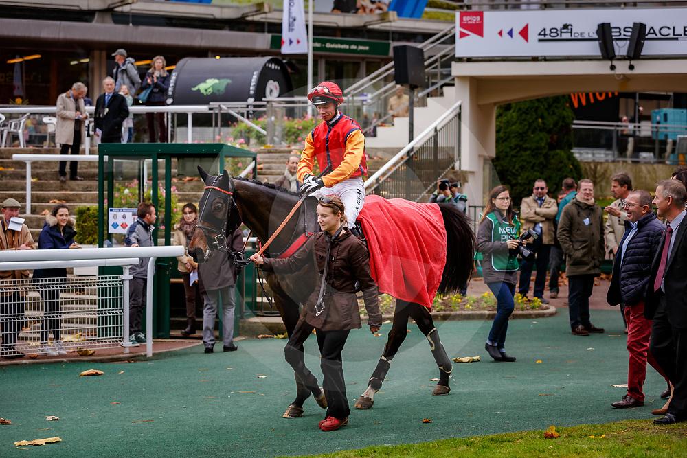 Sundriver (A. Zuliani) wins 117ème Prix de France Challenge de l'Obstacle Gras Savoye - Hipcover Steeple Chase - Cavaliers & Gentelamn Riders, Auteuil, France 04/11/2017, photo: Zuzanna Lupa