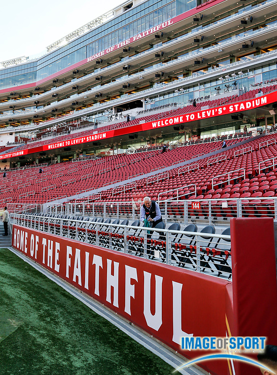 Aug 26, 2016, Santa Clara, CA, USA; General view prior to San Francisco 49ers against the Green Bay Packers in a preseason NFL game at Levi's Stadium.