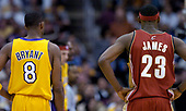 NBA-Cleveland Cavaliers at Los Angeles Lakers-Jan 12, 2004