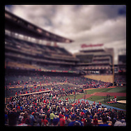 iPhone Instagram of Media Day during the 2014 All Star Game festivities at Target Field in Minneapolis, Minnesota on July 14, 2014