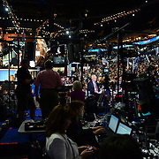 CNN anchor Wolf Blitzer broadcasting from the floor of the 2012 Democratic National Convention