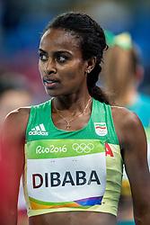12-08-2016 BRA: Olympic Games day 7, Rio de Janeiro<br /> Genzebe Dibaba ETH wint haar serie op de 1500 meter in 4.10.61