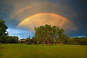 Spoked bow after rain storm<br />Winnipeg<br />Manitoba<br />Canada