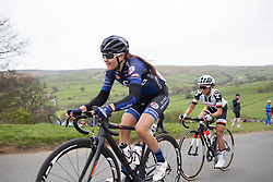 Katrine Aalerud (NOR) of Hitec Products Cycling Team climbs up the Cote de Lofthouse during the Tour de Yorkshire - a 122.5 km road race, between Tadcaster and Harrogate on April 29, 2017, in Yorkshire, United Kingdom.