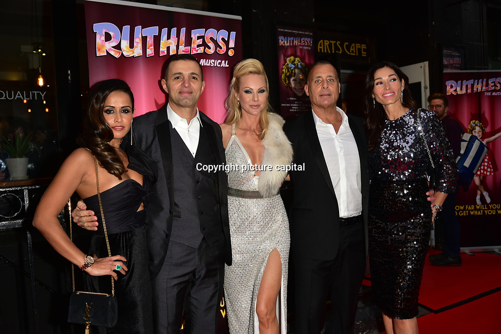 New York 'Ruthless' casting and production arrives at Ruthless! The Musical - Arts Theatre opening night on 27 March 2018  at Arts Theatre, London, UK.