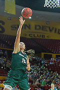 March 18, 2016; Tempe, Ariz;  Green Bay Phoenix forward Mehryn Kraker (10) gets a layup during a game between No. 7 Tennessee Lady Volunteers and No. 10 Green Bay Phoenix in the first round of the 2016 NCAA Division I Women's Basketball Championship in Tempe, Ariz.
