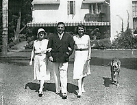 1930s John McCormack and his wife, Lily, and daughter at his home in Runyon Canyon, in the Hollywood Hills