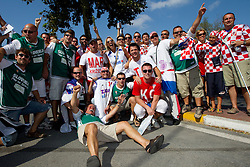 Fans of Slovenia and Croatia prior to the Preliminary Round - Group B basketball match between National teams of Slovenia and Croatia at 2010 FIBA World Championships on August 30, 2010 at Abdi Ipekci Arena in Istanbul, Turkey.  (Photo by Vid Ponikvar / Sportida)