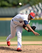 CHICAGO - JULY 01:  Juan Minaya #37 of the Chicago White Sox pitches against the Texas Rangers on July 1, 2017 at Guaranteed Rate Field in Chicago, Illinois.  The Rangers defeated the White Sox 10-4.  (Photo by Ron Vesely) Subject:   Juan Minaya